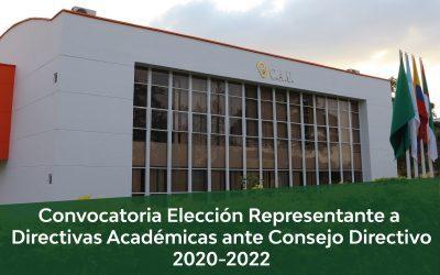 CONVOCATORIA ELECCIÓN DIRECTIVAS ACADÉMICAS 2020-2022