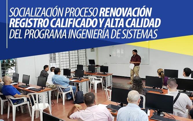 Socialización Renovación Registro Calificado