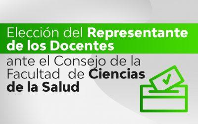 Banner para convocatoria y elección de docente al Consejo de la Facultad de Ciencias de la Salud