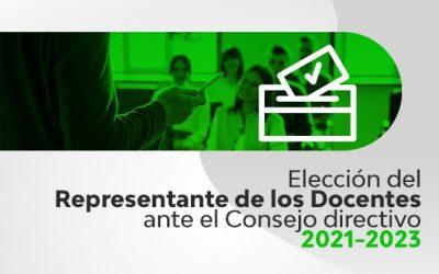Elección del Representante de los Docentes ante el Consejo Directivo