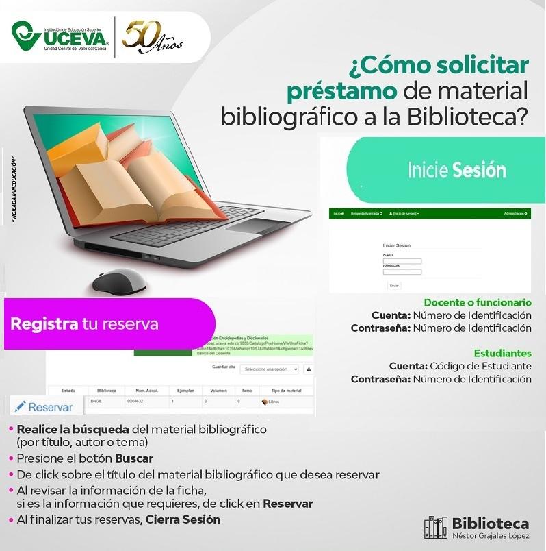 Solicita préstamo de material bibliográfico